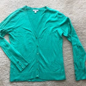 NY & Co green cardigan